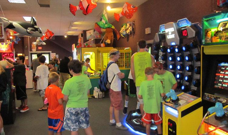 Arcade in Wells, Maine