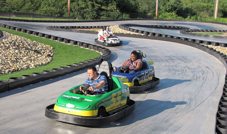 Go-kart track in Wells, Maine